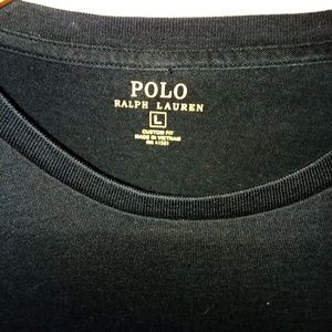 Polo by Ralph Lauren Shirts - Polo Ralph Lauren Men's Long Sleeve T Black sz L